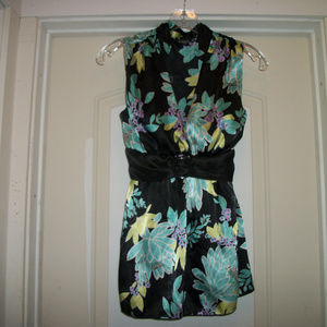 SWEETIEPIE FLORALS SLEEVELESS BLOUSE A BYER M